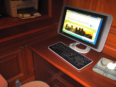 A touch of the New in New York features a computer in the New York Library at the Iroquois Hotel