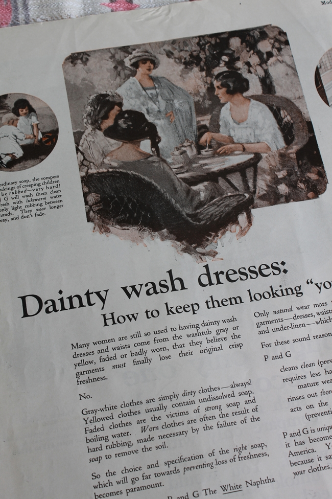 1920's how to keep dresses clean