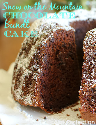 Snow on the Mountain Chocolate Bundt Cake
