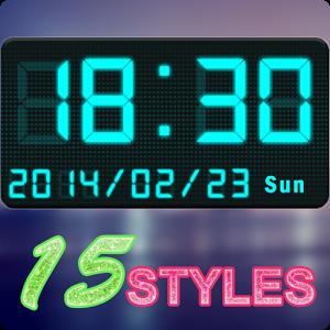 Digital Clock Widget by Super Droid Studio