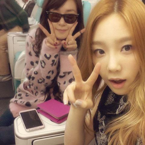 SNSD Taeyeon Tiffany Instagram selca