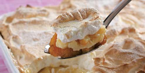 Receita de Torta de banana e merengue