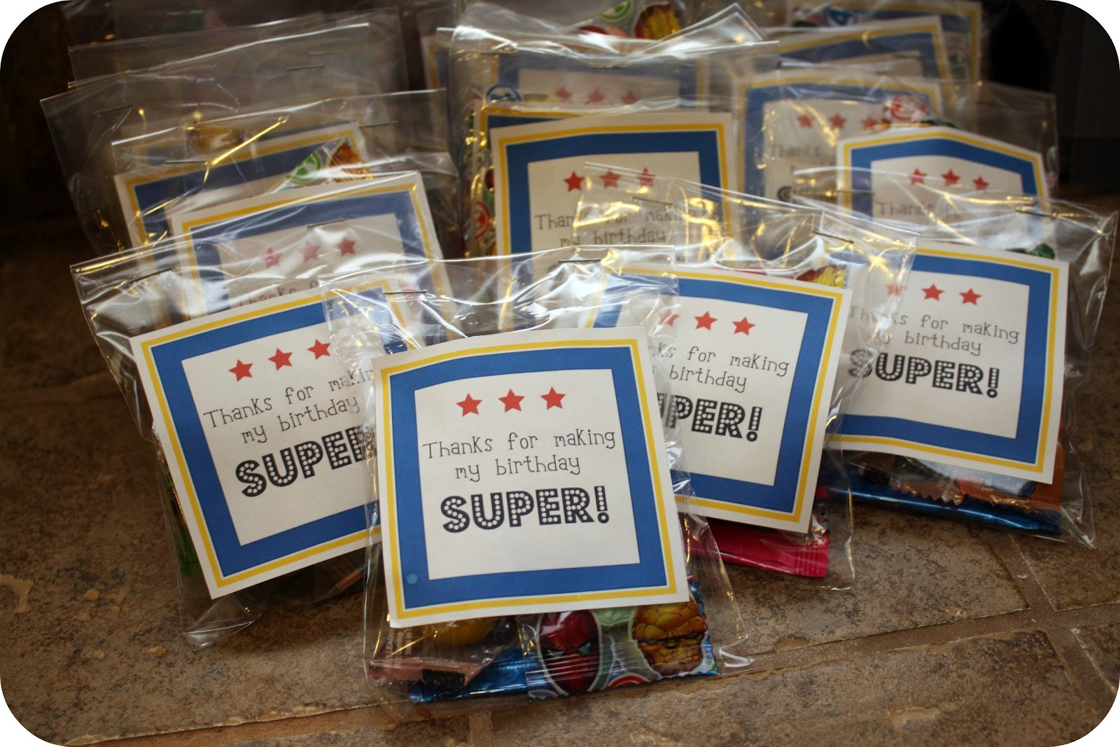 also made her some favor bag tags-which I have for you to download ...