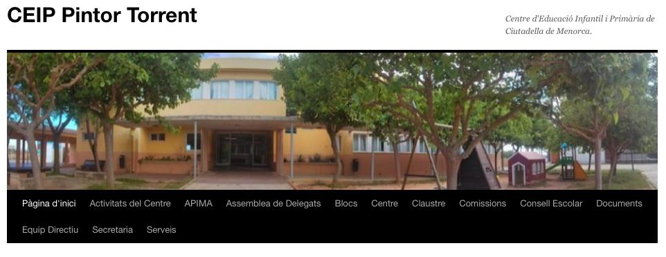 Página oficial de l'escola