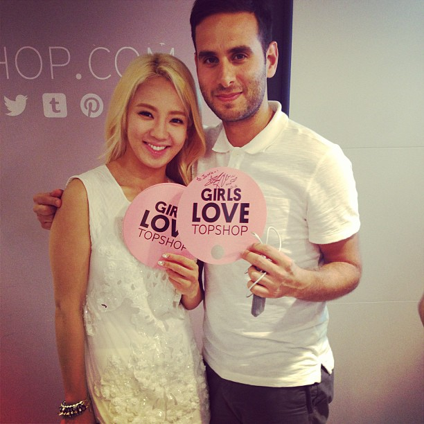 [Picture] 130606 Hyoyeon with Justin Cooke