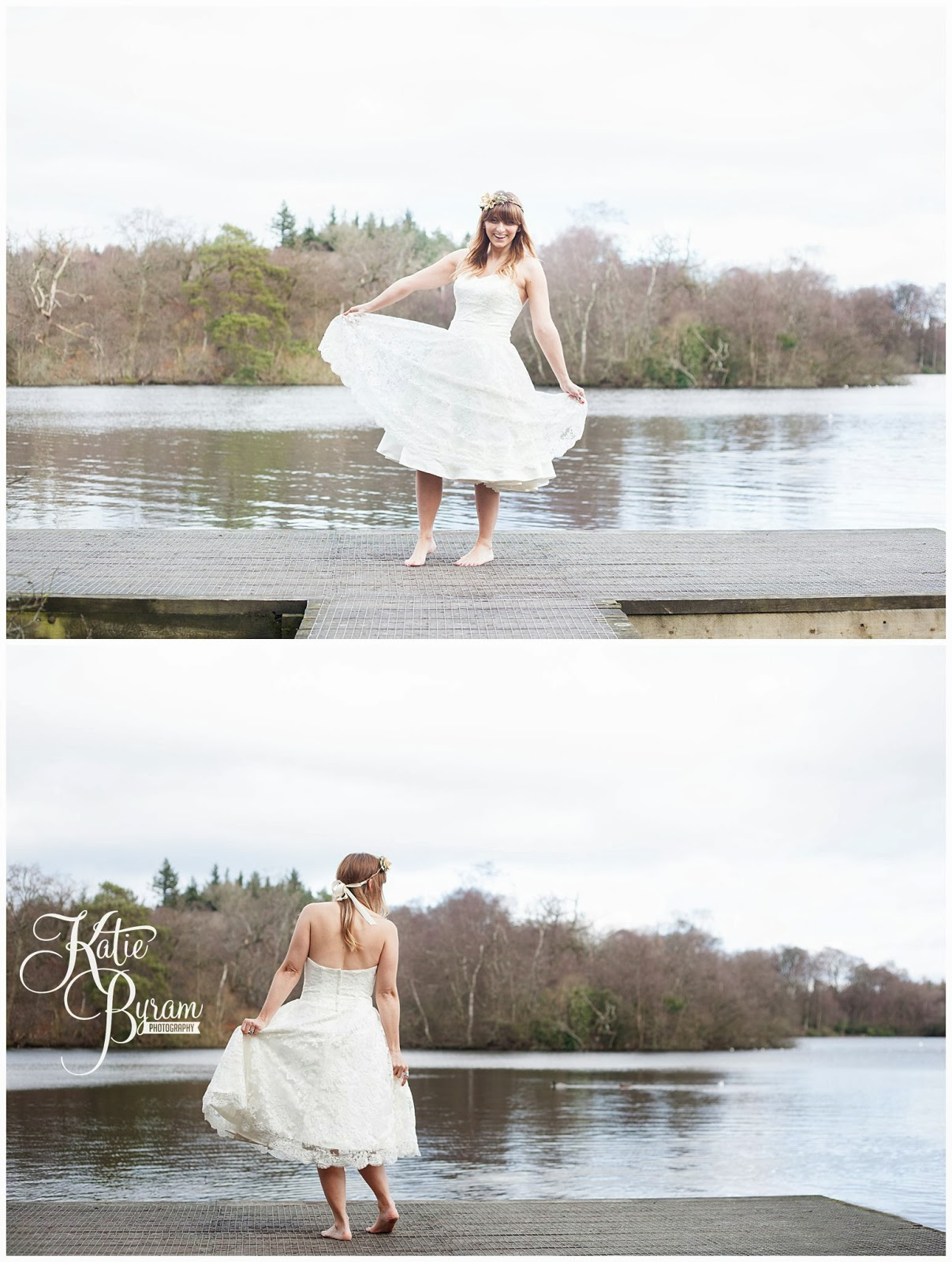 cherish the dress, cherish the dress photoshoot, trash the dress, trash the dress photoshoot, katie byram photography, northumberland wedding photography, woodland wedding, woodland bridal shoot, whichgoose, vintage wedding photography, bolam lake, bolam lake northumberland, autumn wedding
