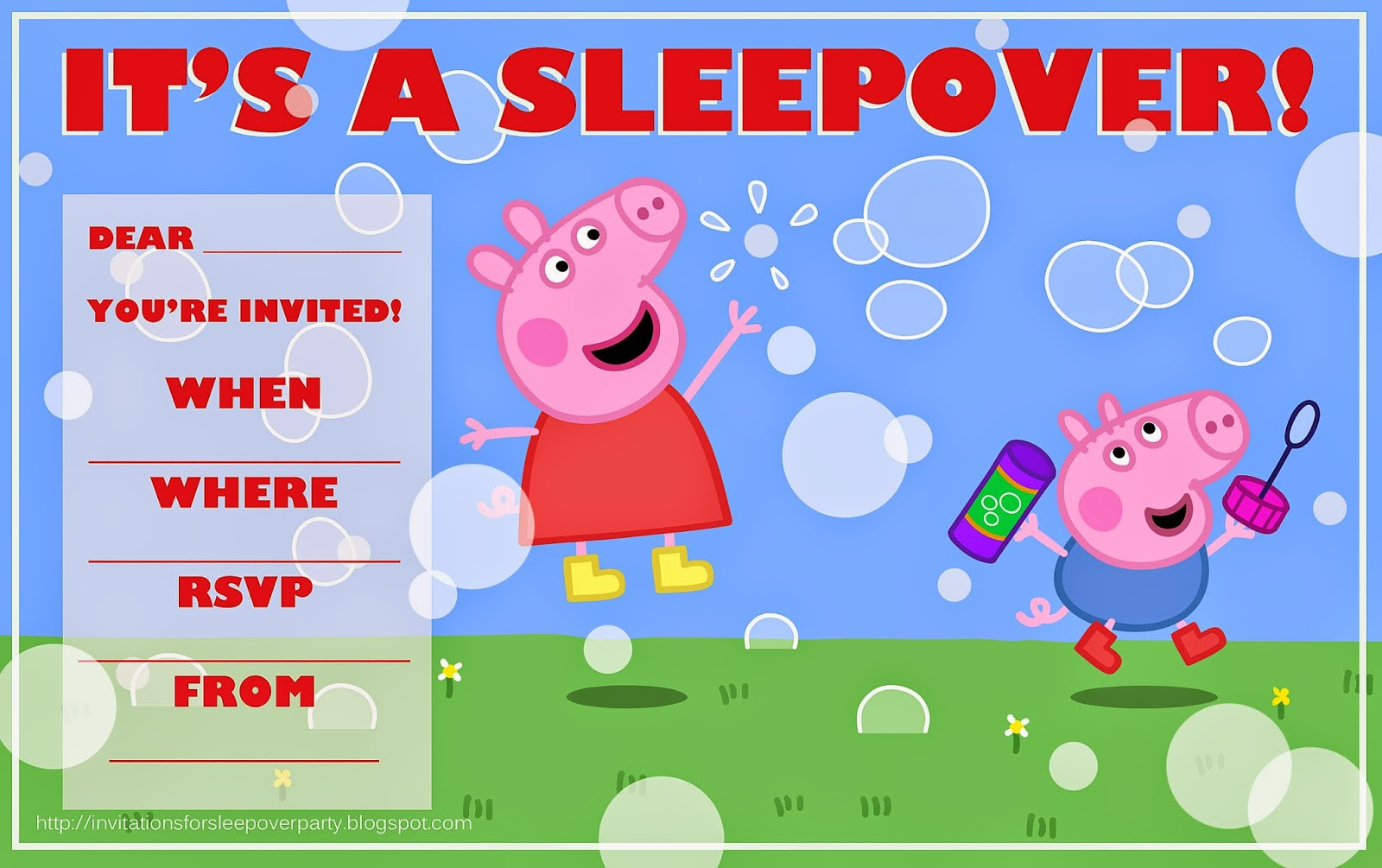 It's just a picture of Crush Peppa Pig Printable Invitations