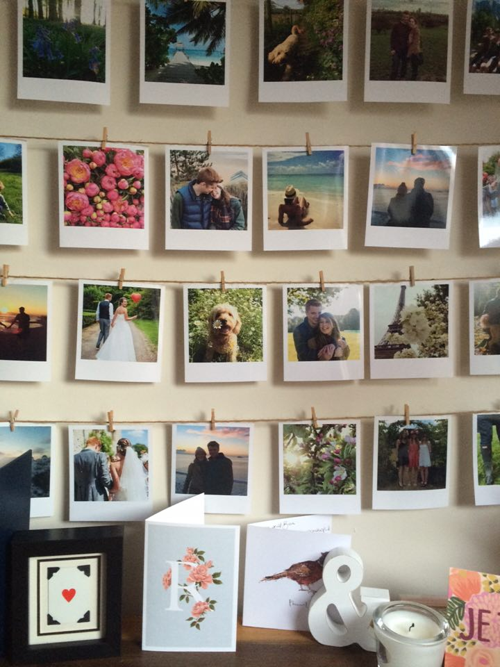 Makeover Instagram Polaroid Photo Wall Roses And Rolltops