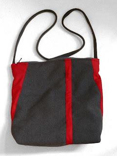 szycie - szara torebka