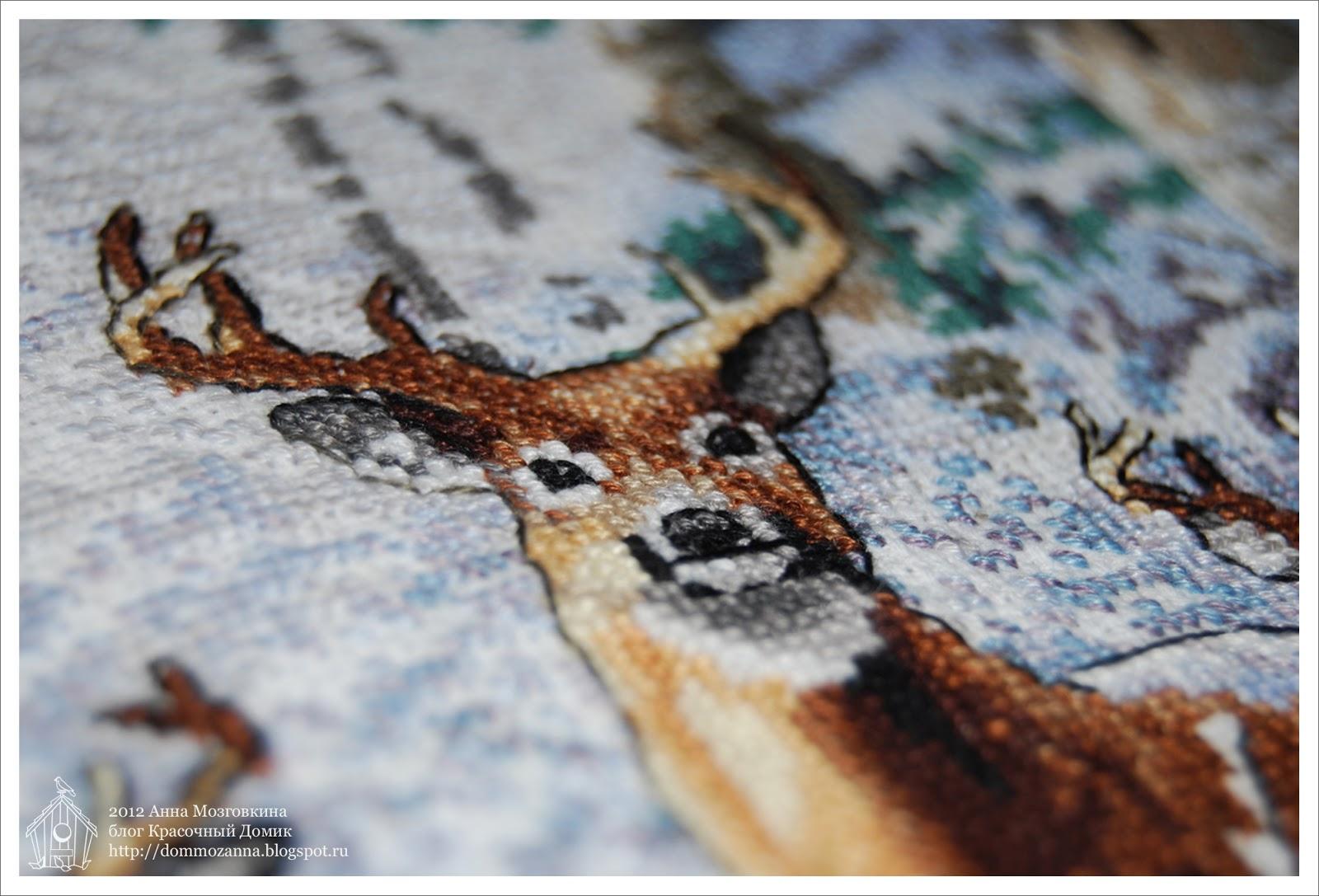 Дименшенс Зима в лесу вышивка крестом