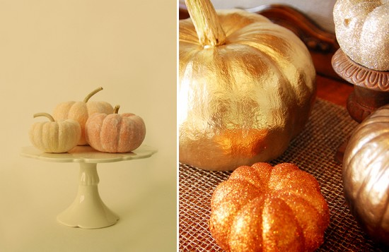 glamorous pumpkins are perfect for a rustic elegant fall wedding