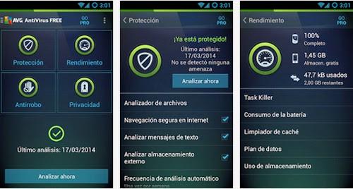 Protege tu telefono movil con AVG AntiVirus gratis