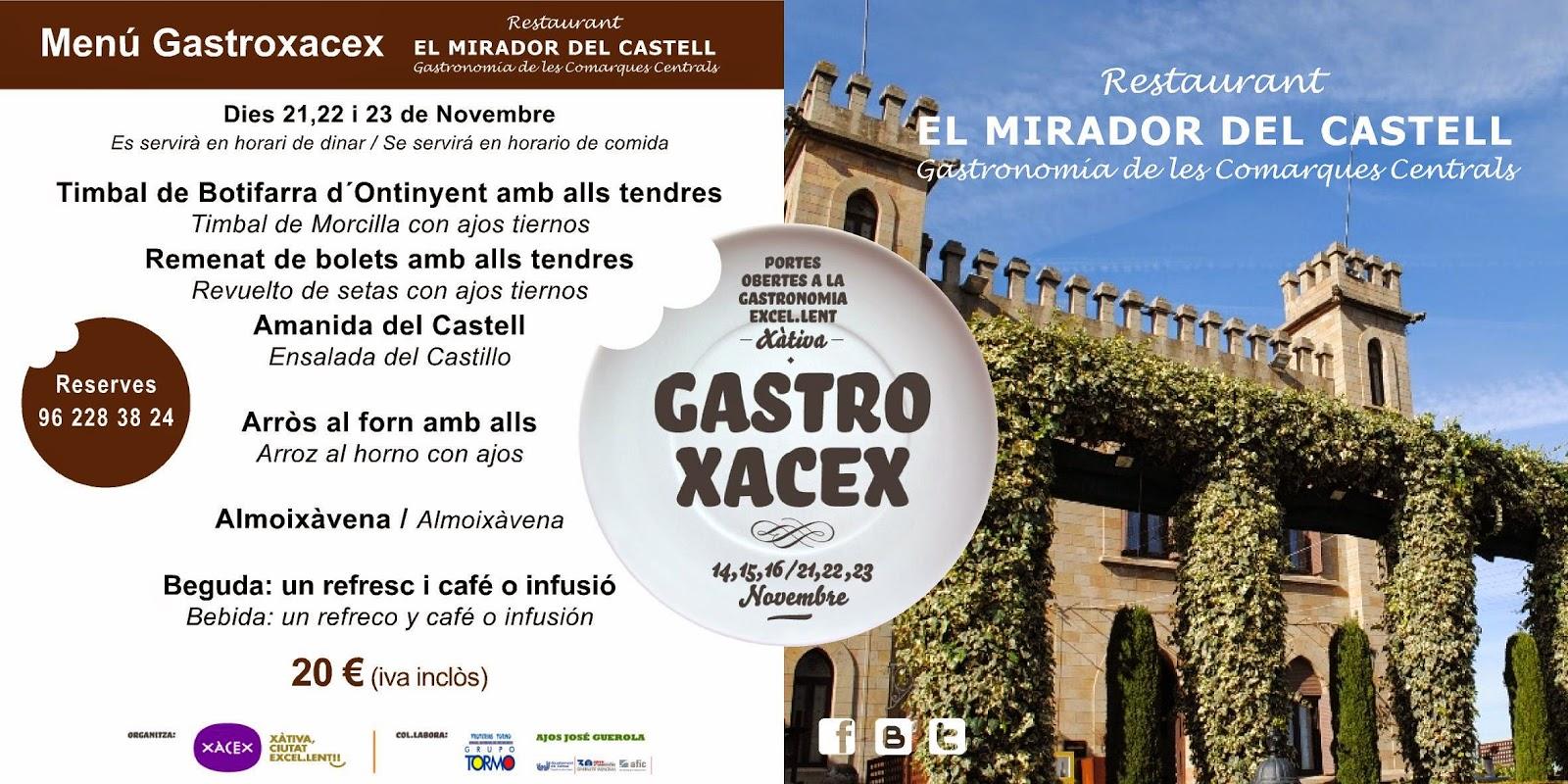 MENÚ GASTROXACEX XATIVA