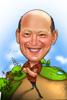 Bald Man Caricature