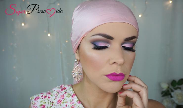 outubro rosa+cancer de mama+super +presumida+shirley medeiros +sombra rosa+youtube+tutorial+passo a passo+octubro rosa