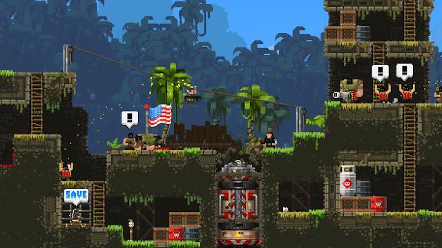 Nueva actualización del shooter 2D Broforce, con nuevos personajes y misiones