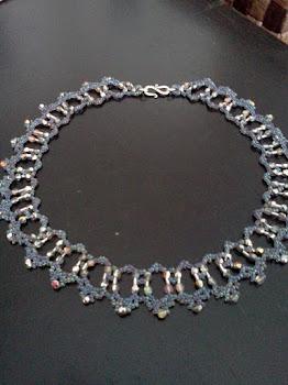 Blue Aurora Borealis Collar