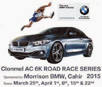 Clonmel 6k Series...Wed 25th Mar and 1st, 8th, 15th & 22nd Apr