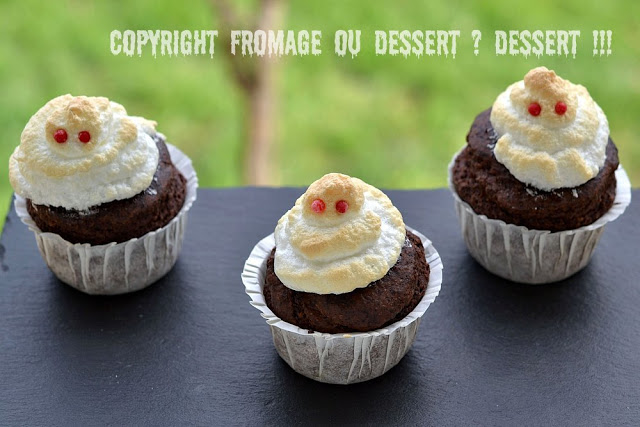 cupcakes cacao noisette IG bas halloween fantomes