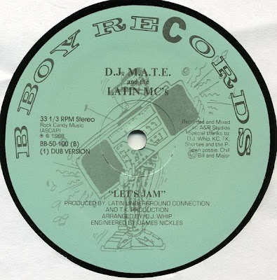 "DJ M.A.T.E And The Latin MC's – Let's Jam – 12"" – 1988"