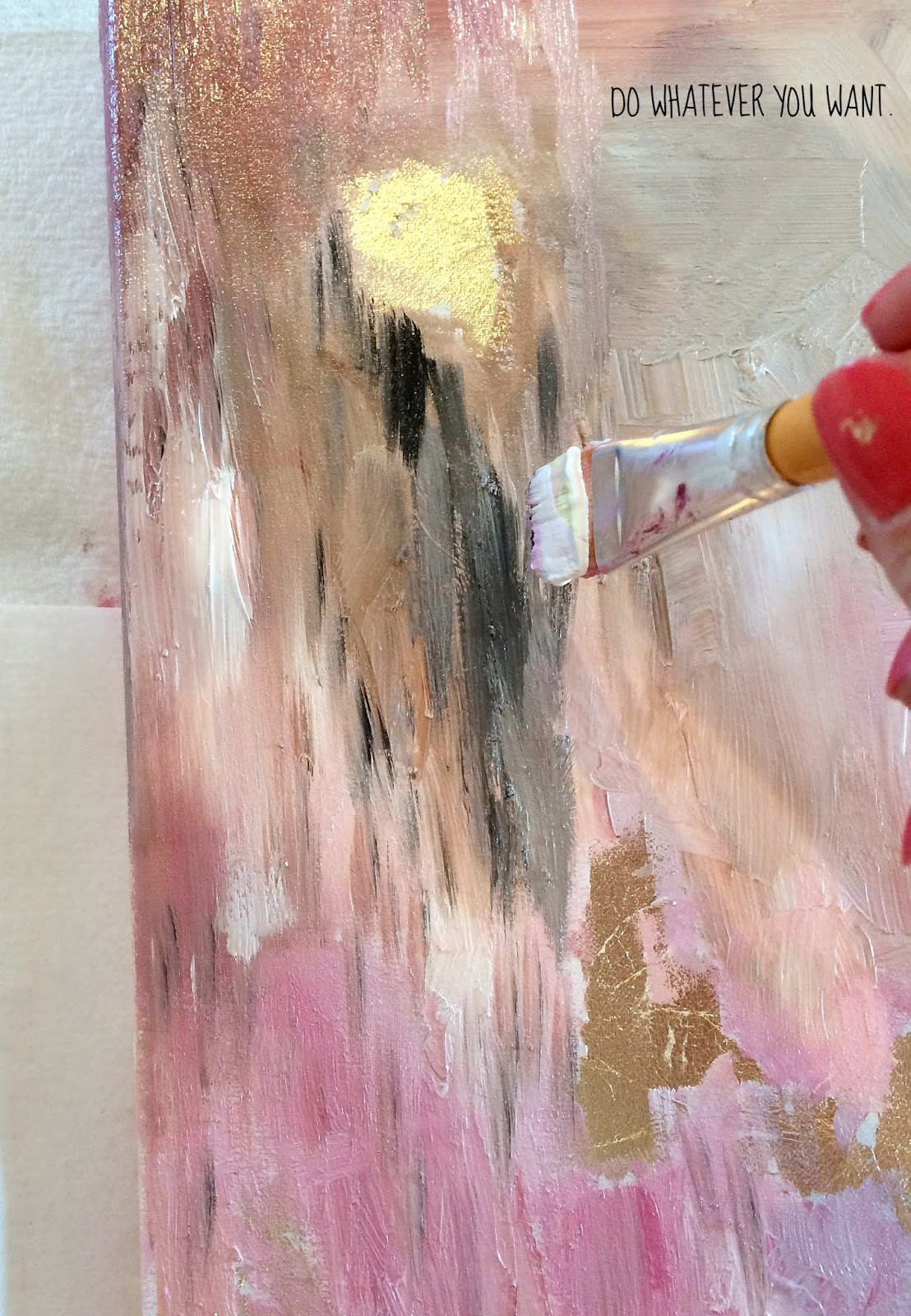 How To Make DIY Gold Leaf Abstract Art | LiveLoveDIY ... - photo #11