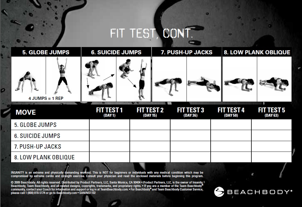 Workout Calendar To Lose Weight : Insanity base kit video workout control your weight