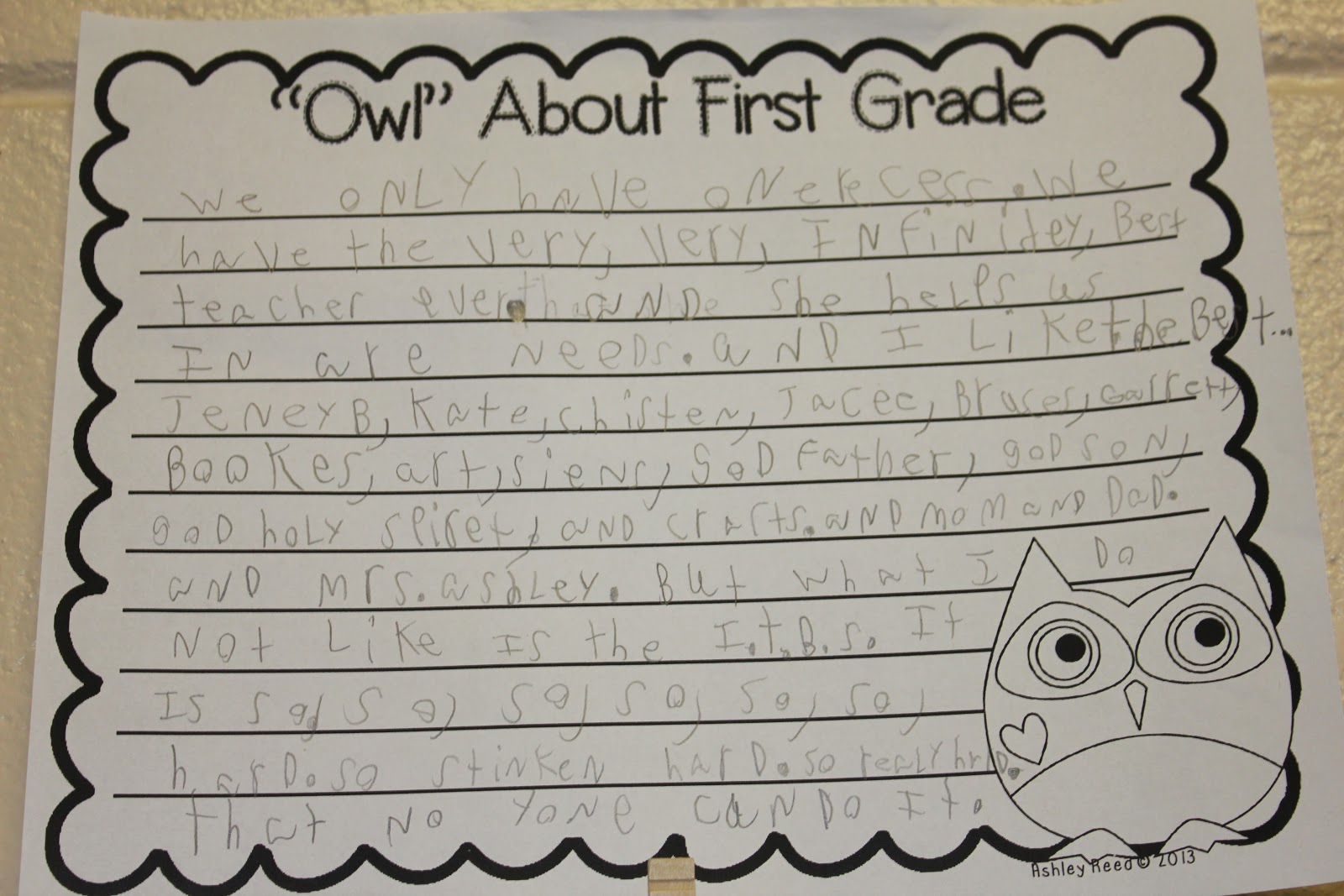 free first grade writing paper