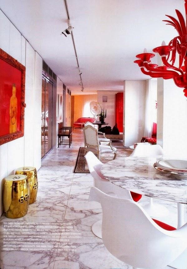 Conseils d co et relooking la vie contemporaine motifs - Salle a manger rouge ...