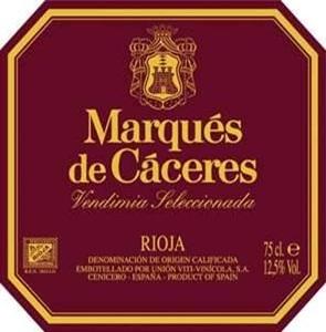 Etiqueta Vino Marqués de Cáceres