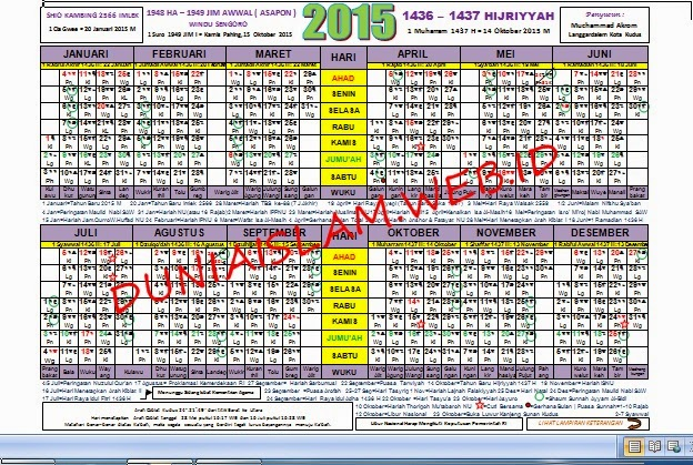 DOWNLOAD KALENDER 2015 MASEHI LENGKAP