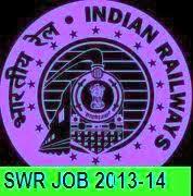SWR RRC Hubli jobs 2013-14