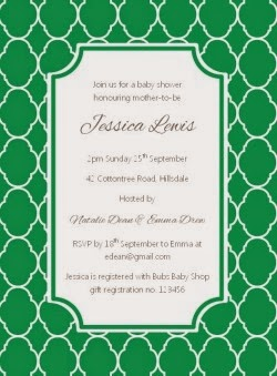 Quatrefoil Party Invitation - Emerald