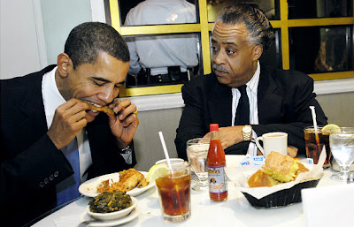 President Obama Eating Soul Food