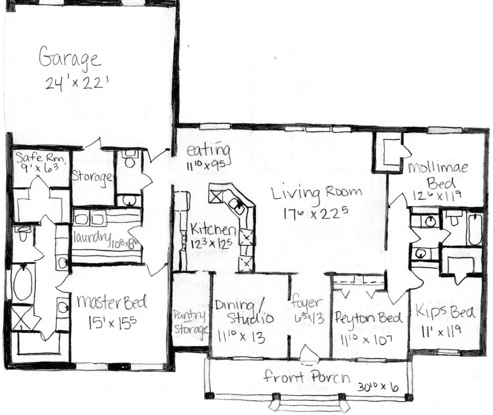 Chuck And Ashley Our Dream Our House Plan Rough Draft