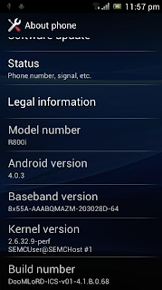 Leaked ICS ROM To Sony Xperia PLay