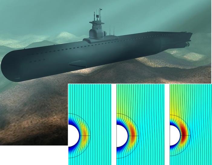 на какой глубине движется подводная лодка если