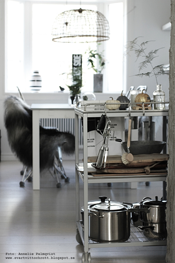 kök, köket, inredning, serveringsvagn, industri, industristil, pumpor, måla, diy, höstpyssel, höst, pyssel, pyssla,