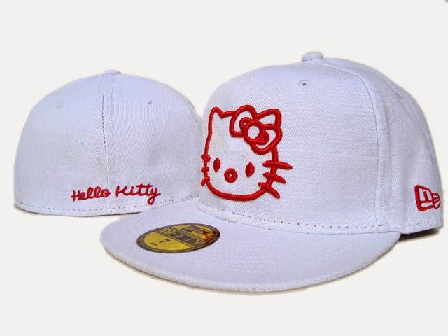 Gambar Topi Hello Kitty Lucu Penutup Kepala Imut Putih