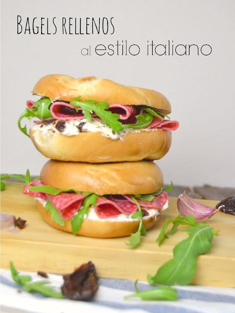 Bagels rellenos al estilo italiano