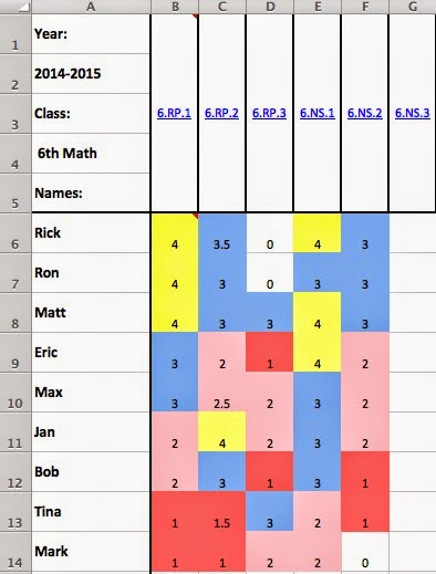mrs l s leveled learning tracking student progress in excel done