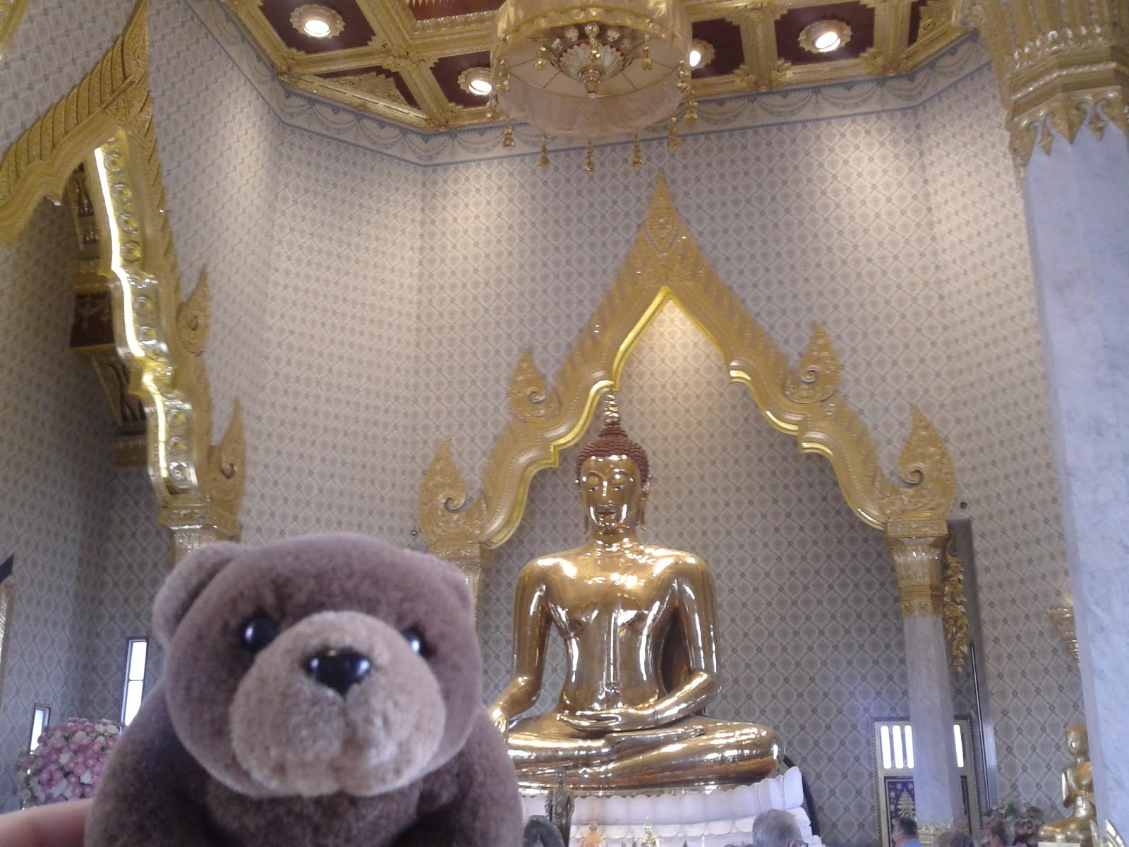 Teddy in Traimit Witthayaram Temple, Bangkok