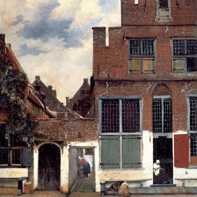 Vermeer painting The little street