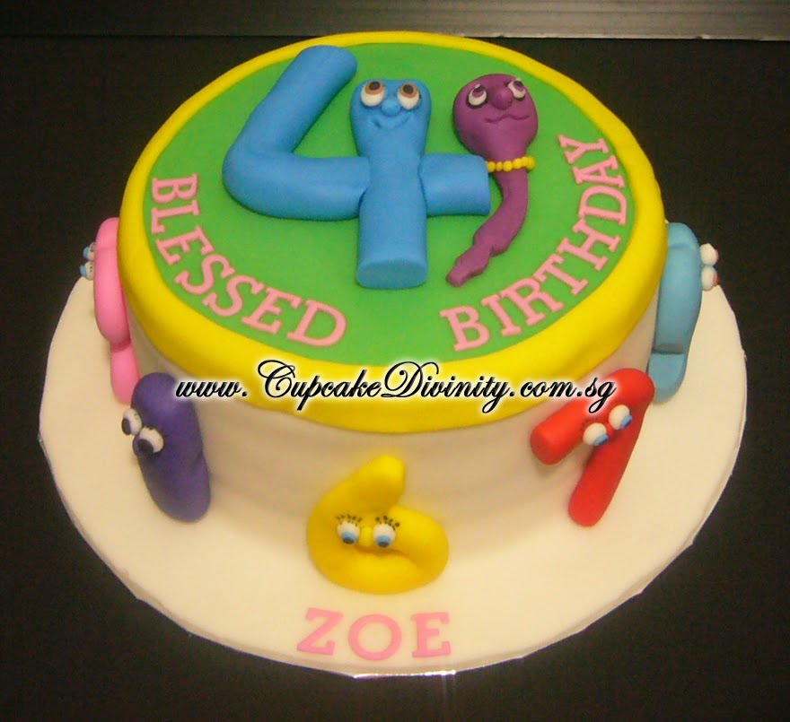 Cupcake Divinity Number Jack Zoe Birthday Cake