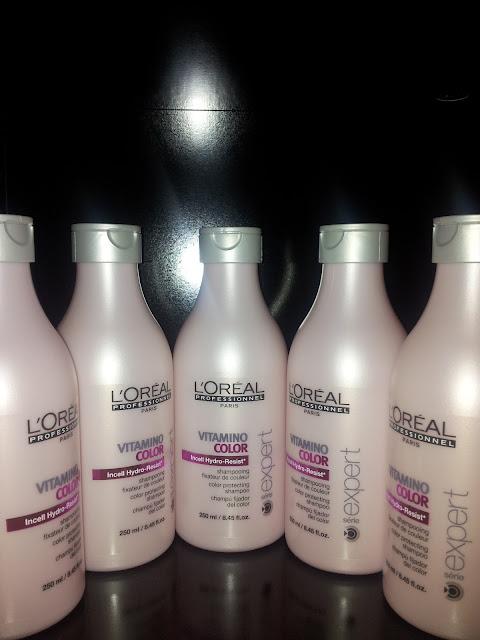 Shampooing Vitamino Color de l'Oréal, fixateur de couleur.