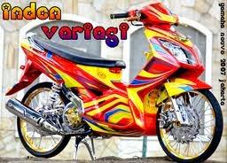 modifikasi motor yamaha nouvo airbrush