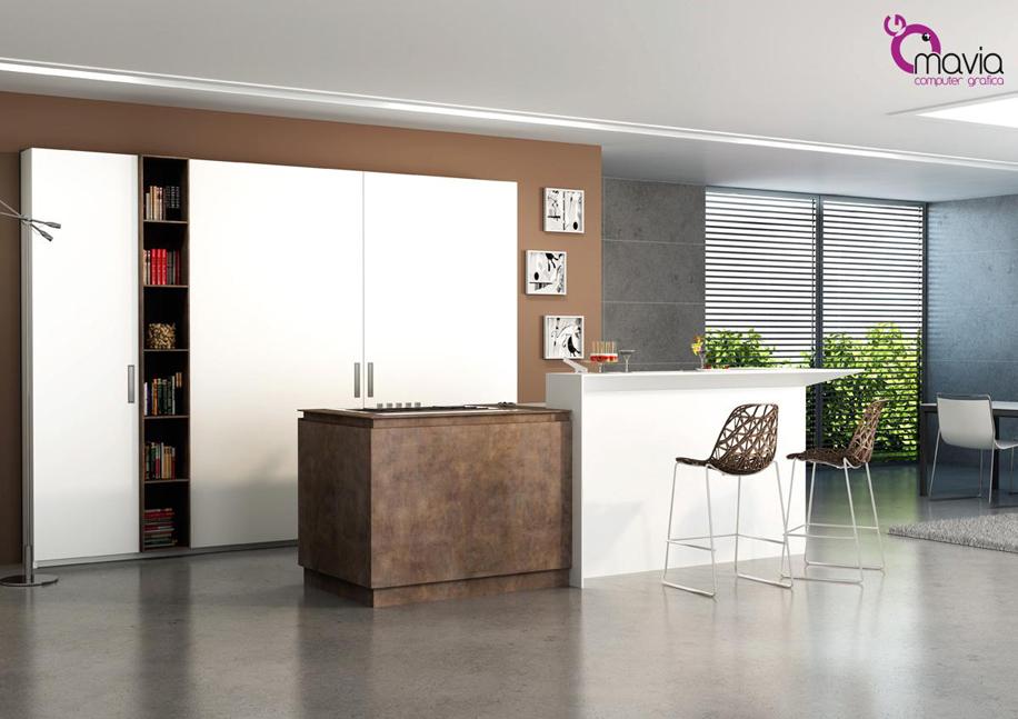 Arredamento di interni fotografia virtuale 3d rendering for Modelli cucine componibili