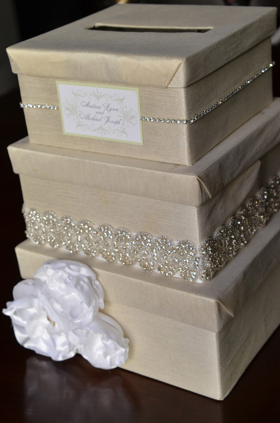 Wedding Gift Card Containers : DIY Wedding Card Box Tutorial - Andrea Lynn HANDMADE