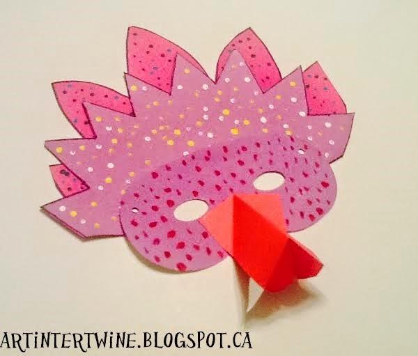 Art Intertwine Animal Masks Kids Can Make