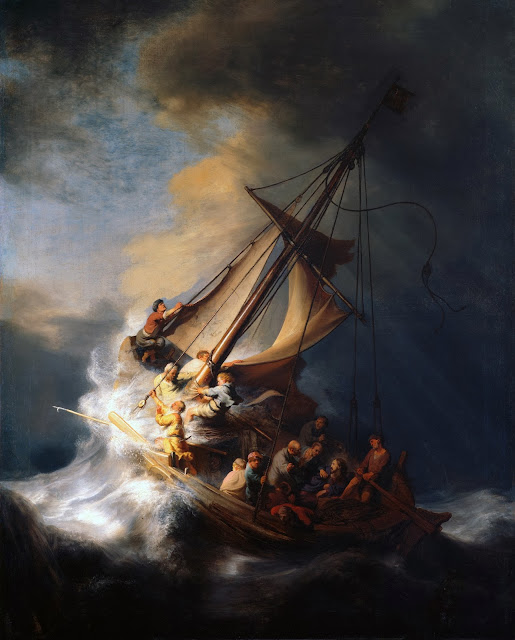 """Picture of """"The Storm on the Sea of Galilee"""" by Rembrandt, 1633"""