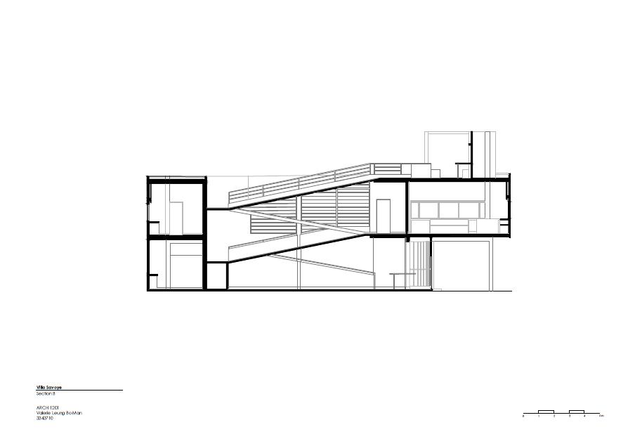 villa savoye section B PNGVilla Savoye Section